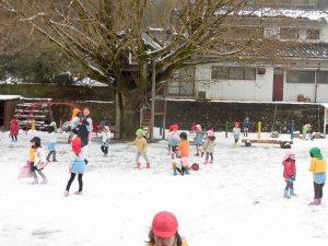 1月 雪遊び